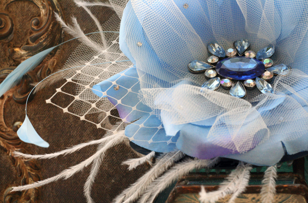 Baby Blue Brooch Fascinator
