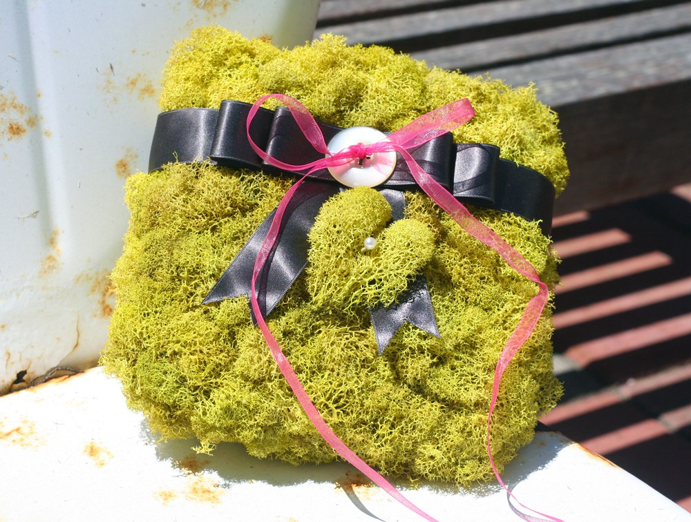 Chartreuse Moss Ring Pillow